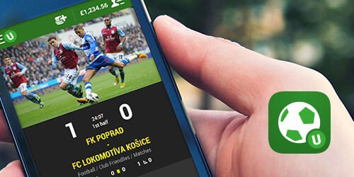 App van bookmaker Unibet iphone screenshot
