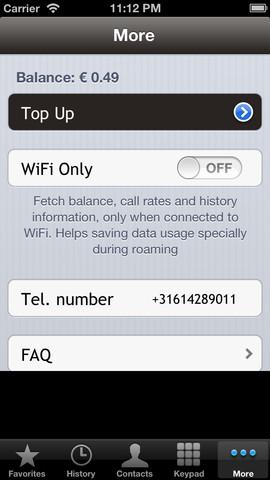 credit call app screen